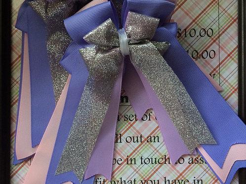 Pink & purple sparkle show bows!