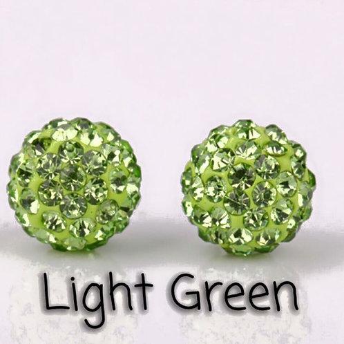 Light green earrings!