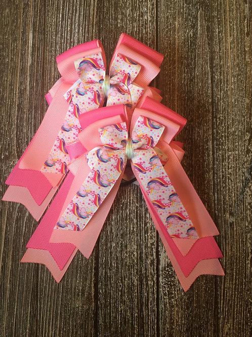 Pink unicorn bows!
