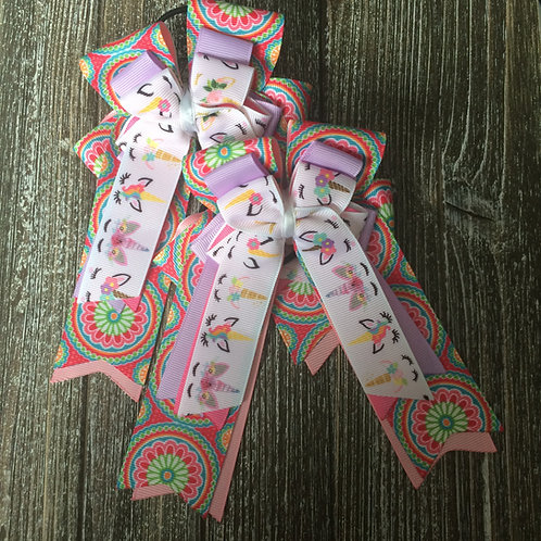 Colorful unicorn bows!