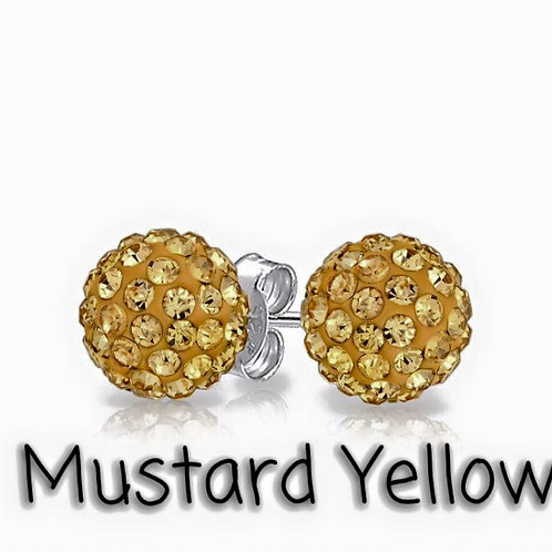 Mustard yellow earrings!