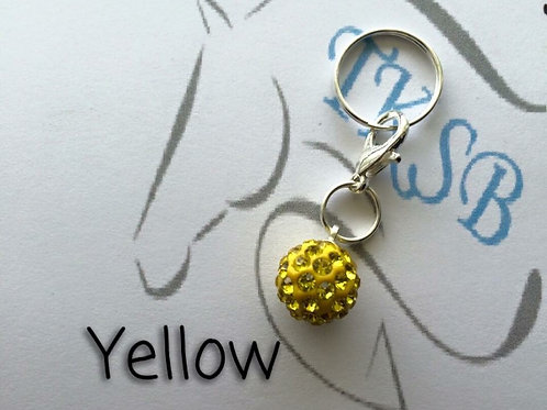 Yellow bridle charm!