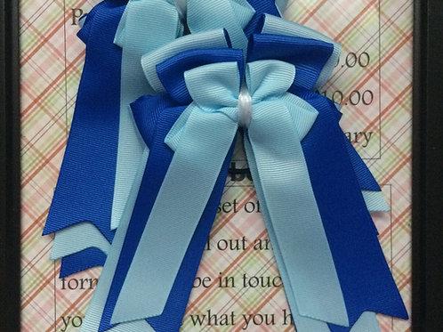 Light blue & royal blue bows!