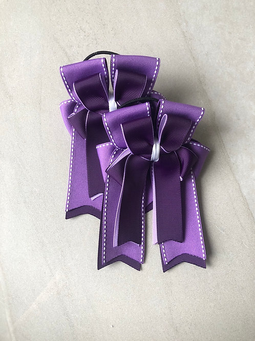 Plum stitched bows!