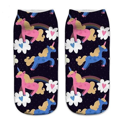 Pink & Blue Unicorn Socks!