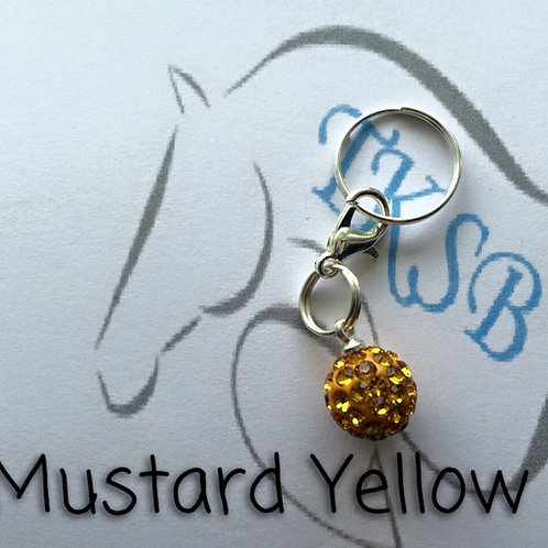 Mustard yellow bridle charm!