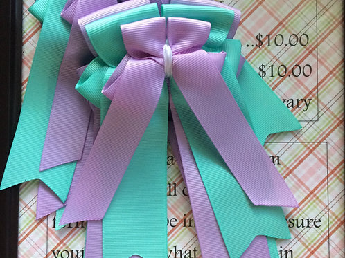 Teal & purple bows!