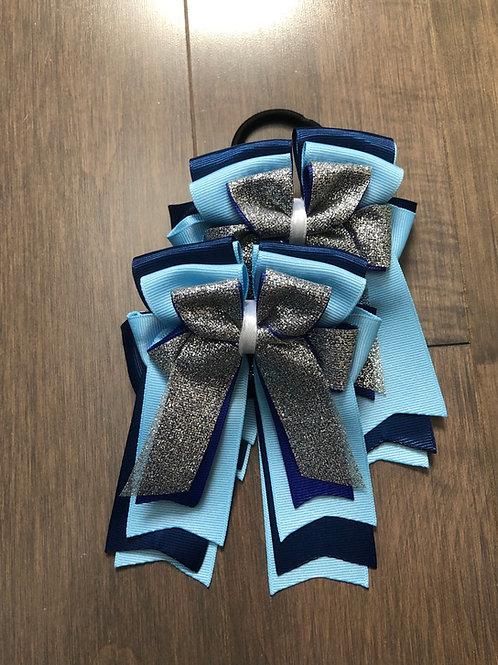 Navy & sky blue sparkle bows!