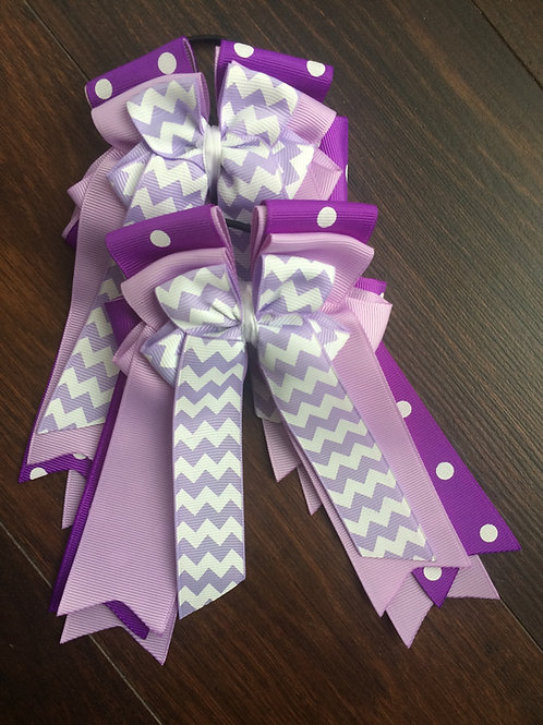 Purple/polka dot chevron bows!