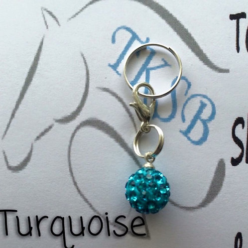 Turquoise bridle charm!