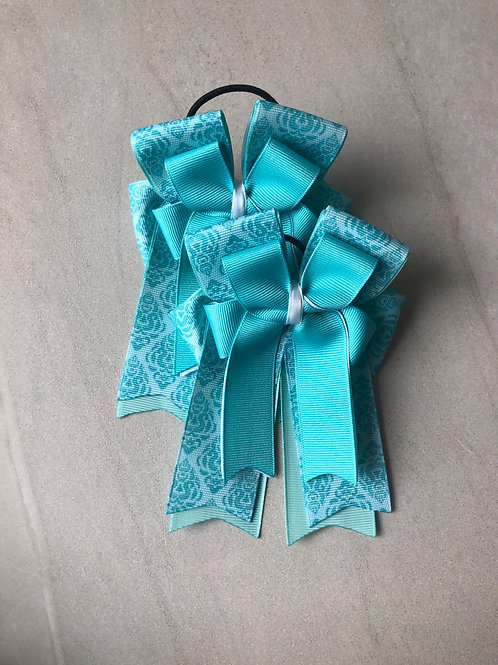 Teal patterned bows!