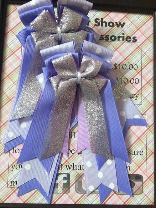 Light purple polka dot sparkle show bows!