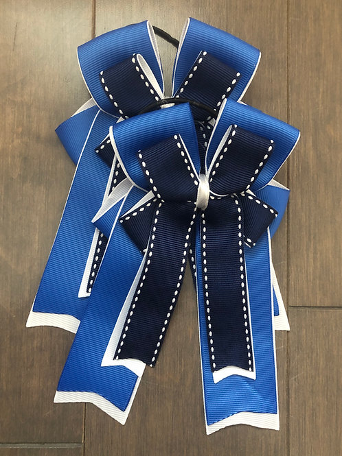 Royal blue & navy stitched bows!