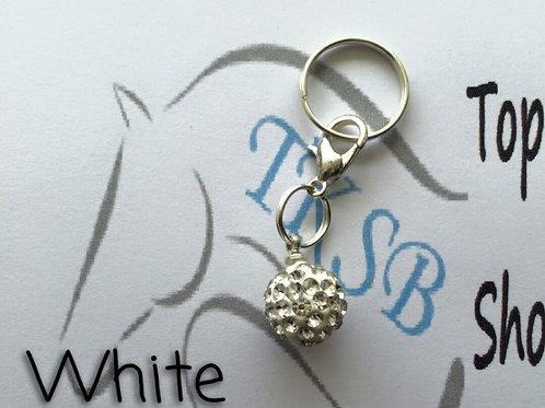 White bridle charm!