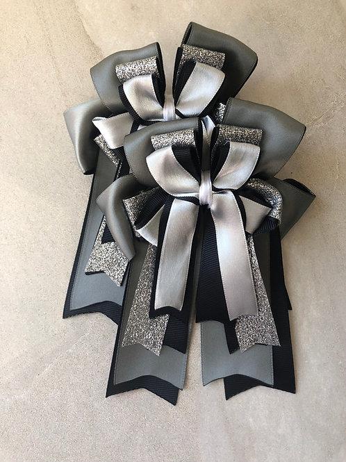 Charcoal sparkle bows!