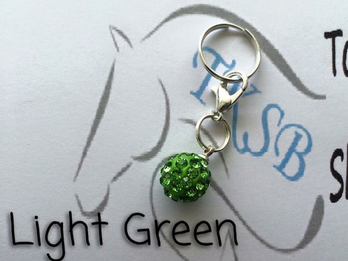 Light green bridle charm!