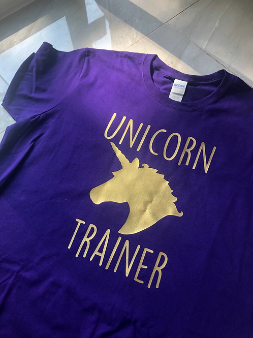 "Ladies - ""Unicorn Trainer"" tee!"