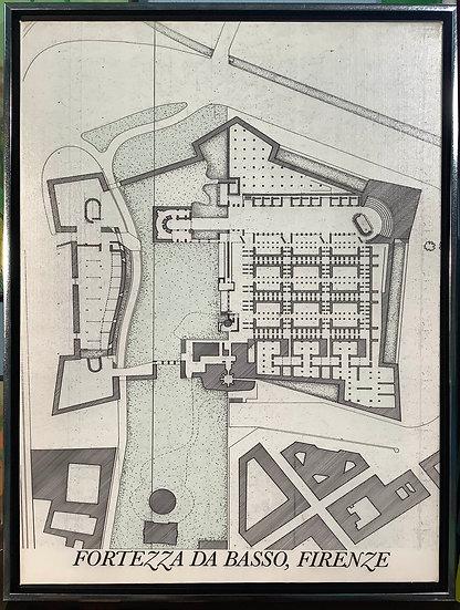 Fortezza Da Basso, technical art print