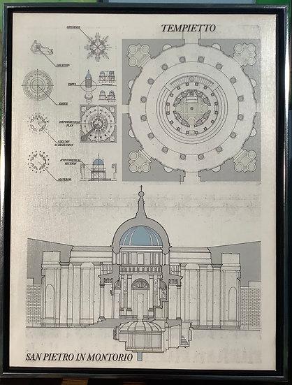 Tempietto technical art print