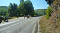 Caday Rouge cycling in France