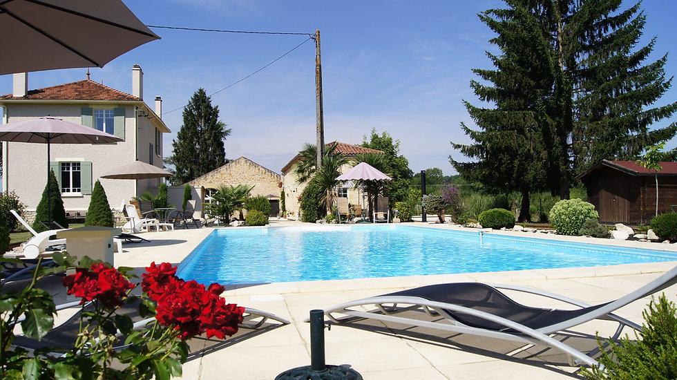 Beautiful large saltwater swimming pool
