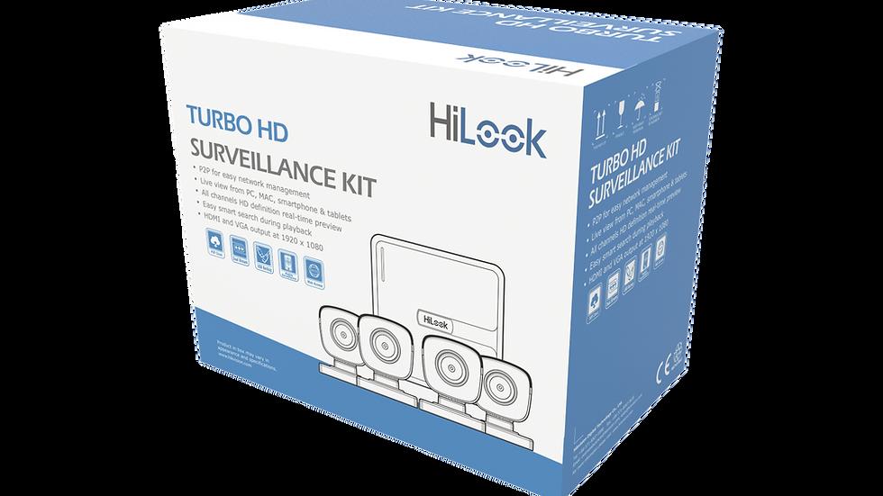 KIT TurboHD 720p / DVR 4 canales / 4 Cámaras Bala de Policarbonato / 4 Cables