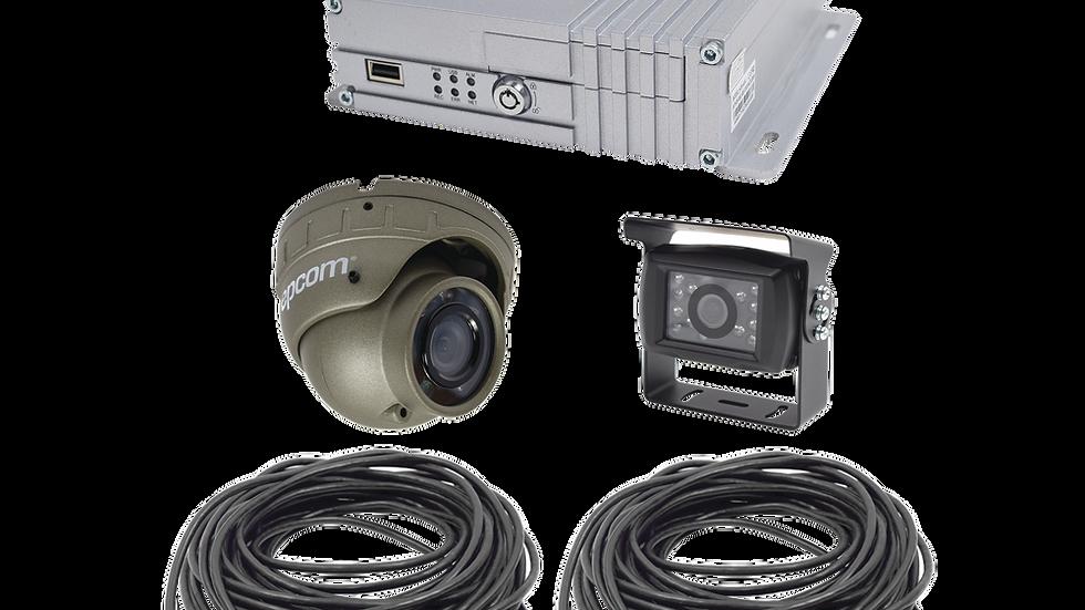 Sistema de videovigilancia móvil AHD todo en uno, incluye MDVR de 4 canales