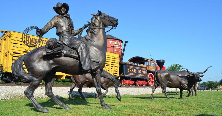 Wild Bill Statue on Katy Trail