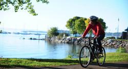 2 - Cyclist by Lake