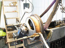 Truing of leather faced cone clutch