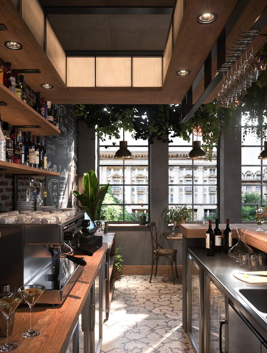 Aristech Surfaces - Coffee Shop