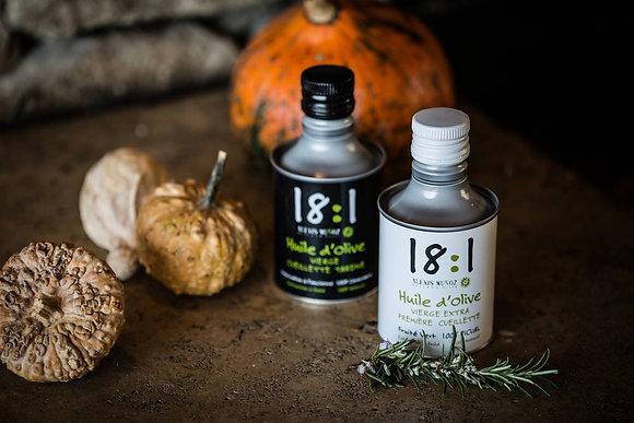 Huile d'olive 18:1 récolte tardive - 250 ml