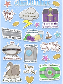 PEI Sticker Sheet