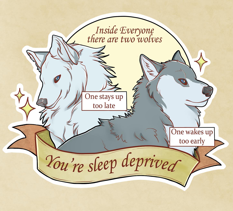 Two wolves meme