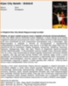 Kiev City Ballet Press Review