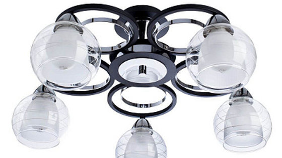 Потолочная люстра Arte Lamp Ginevra A1604PL-5BK