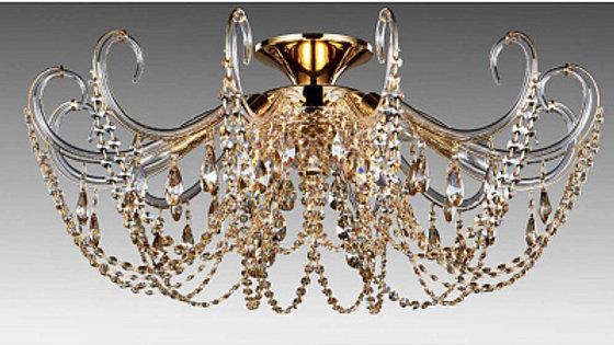 Потолочная люстра Crystal Lux Imperia PL6 Gold/Amber