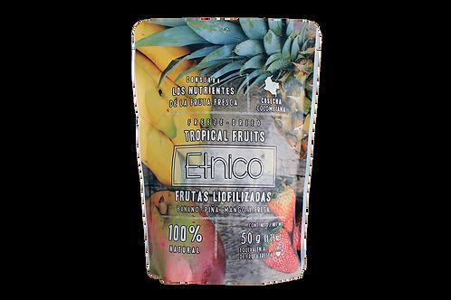 Mix tropical frutas liofilizadas (Banano, Piña, Mango y Fresa) 50g