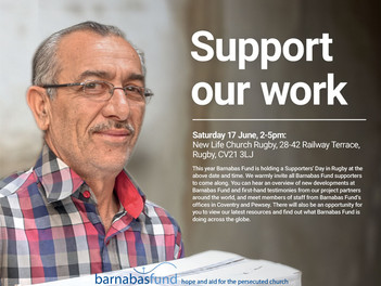 Barnabas Fund Supporters June 17th