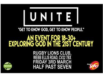 Unite 18-30+ event Mar 3rd