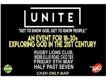 Unite 18-30+ May 5th