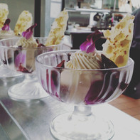 Vegan Yuzu Mousse with Orchid and Port F