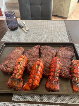 Fresh off the Grill... Looks Amazing!