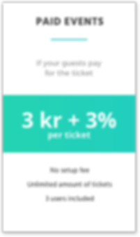 Paid events price