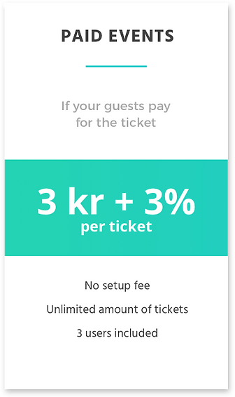 Price for paid events