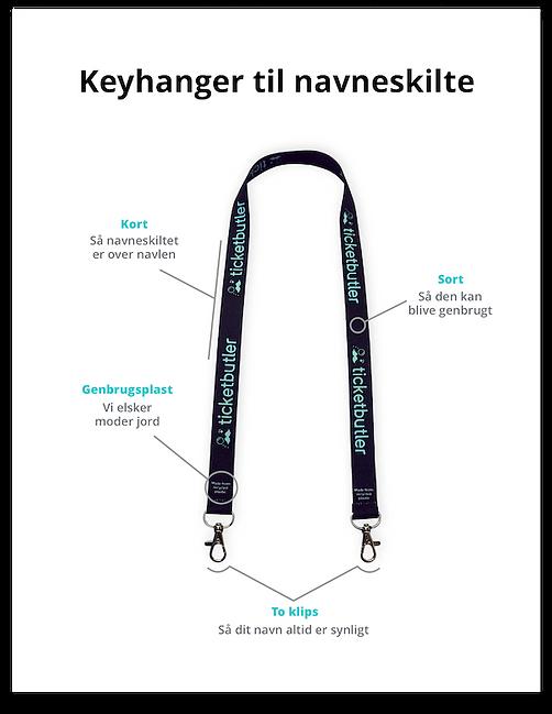 Keyhangers og navneskilte til dit event