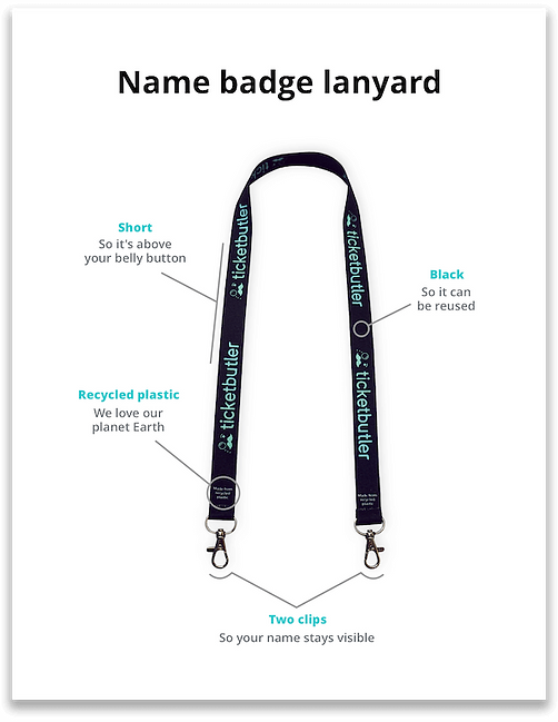Sustainable lanyard in recycled playstic