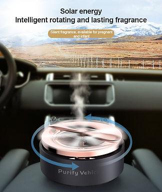 Car Solar Aromatherapy  Silent Auto Rotating  Car Air Freshener