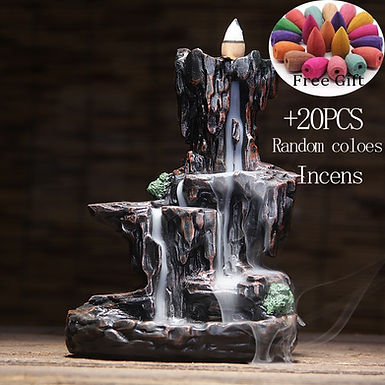 Mountains River Waterfall Incense  Backflow holerAroma +50 Incense Cones