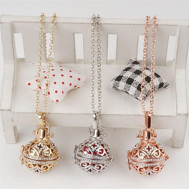 Fine Jewelry Lava Diffuser Necklaces Cage Pendants Chimes